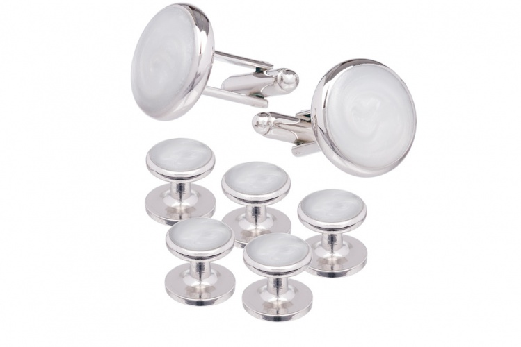 Mother Of Pearl Shirt Studs and Cufflink Set - Gents Shop